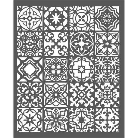 Pochoir décoratif mosaïque 20x25cm