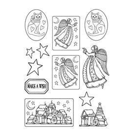 Moule décoratif thermoformé Stamperia anges stampo 10p