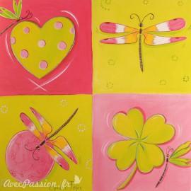 Carte postale libellule Lynda Faÿs le jardin de libellule 1