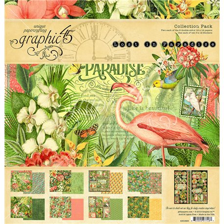 Papier scrapbooking assortiment Graphic 45 Life is beautiful recto verso 30x30 16fe