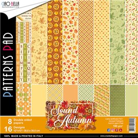 Papier scrapbooking assortiment Ciao Bella the sound of automn 8fe 30x30