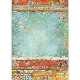 Papier de riz Stamperia 42x30cm moon noël