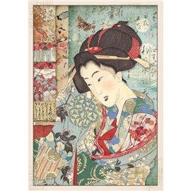 Papier de riz Stamperia 21x29,7cm geisha