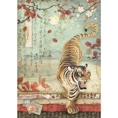 Papier de riz Stamperia 21x29,7cm tigre