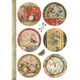 Papier de riz Stamperia 21x29,7cm sphères orientales