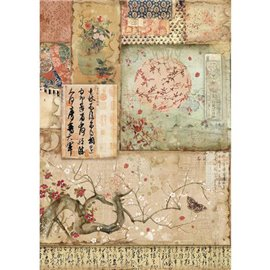 Papier de riz Stamperia 21x29,7cm branches orientales