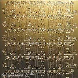 Sticker peel off adhésif joyeux Noël doré