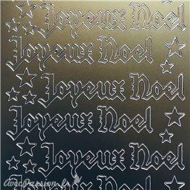 Sticker peel off adhésif joyeux Noël gothique doré