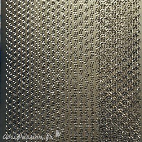 Sticker peel off adhésif lignes zig zag argent