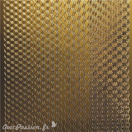 Sticker peel off adhésif lignes zig zag doré