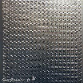 Sticker peel off adhésif bordures ovale argent