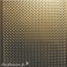 Sticker peel off adhésif bordures ovale doré