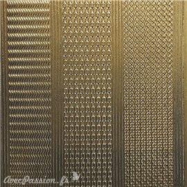 Sticker peel off adhésif bordures zig zag doré