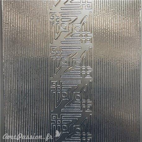 Sticker peel off adhésif bordures coins droit argent