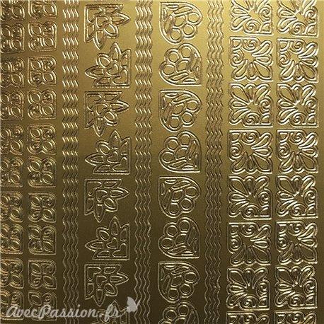 Sticker peel off adhésif coins bords doré