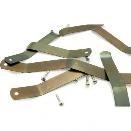 Attaches tournettes + vis pour cadres chassis peinture à l'huile 8p