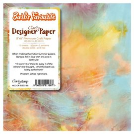 Papier scrapbooking 20x20 assortiment barb's favourite 10f recto verso
