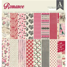 Papier scrapbooking assortiment Authentique Romance recto verso 30x30 48fe