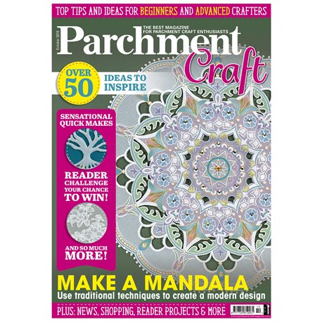 Parchment Craft magazine Pergamano octobre 2019 Make a Mandala