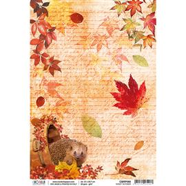 Papier de riz octobre doux 22x32cm Ciao Bella