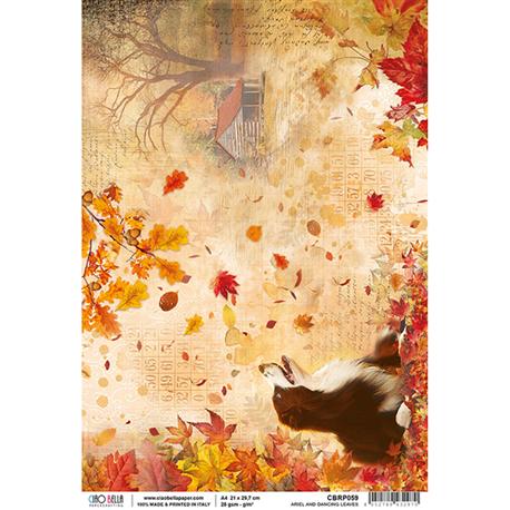 Papier de riz ariel et feuilles dansantes 22x32cm Ciao Bella