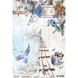 Papier de riz le monde change quand il neige 22x32cm Ciao Bella
