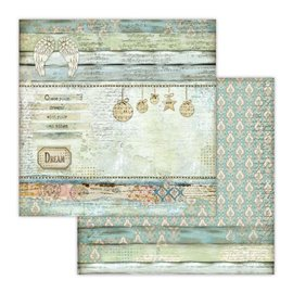 Papier scrapbooking réversible Stamperia anges en papier 30x30