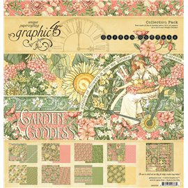 Papier scrapbooking assortiment Graphic 45 Garden Goddess recto verso 30x30 16fe