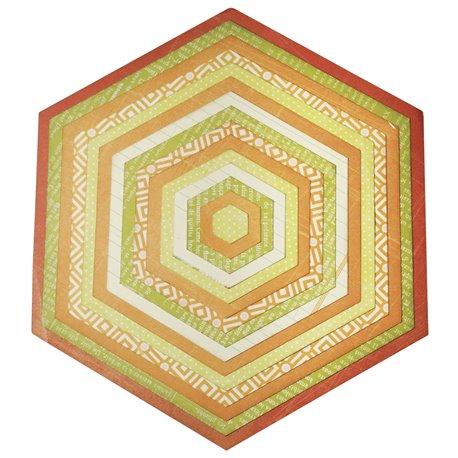 Dies découpe hexagones 15 dies Sizzix