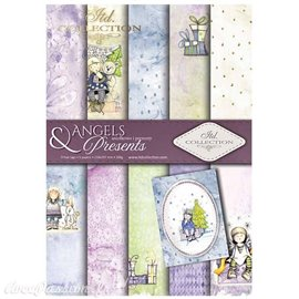 Papier scrapbooking A4 assortiment 12 tag + 5fe recto verso Angels & Presents