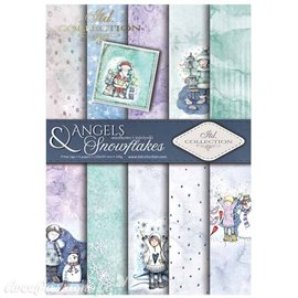 Papier scrapbooking A4 assortiment 12 tag + 5fe recto verso Angels & Snowflakes