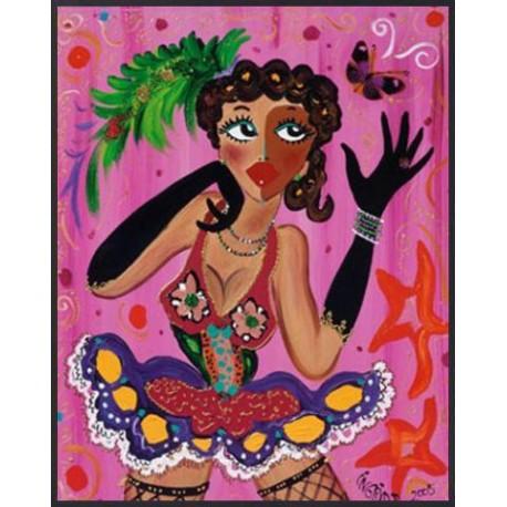 Carte postale b. ingrid miss pink butterfly