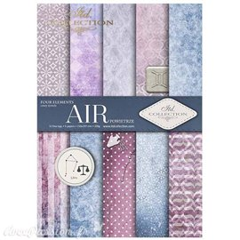 Papier scrapbooking A4 assortiment 12 tag + 5fe recto verso Air