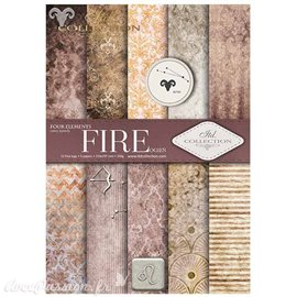 Papier scrapbooking A4 assortiment 12 tag + 5fe recto verso Fire