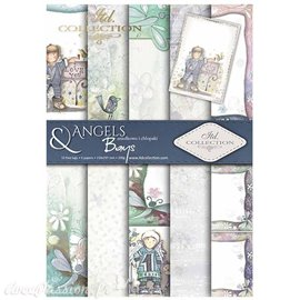 Papier scrapbooking A4 assortiment 12 tag + 5fe recto verso Angels & Boys
