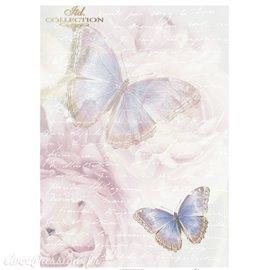 Papier scrapbooking sur papier calque A4 papillons