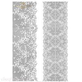 Papier scrapbooking sur papier calque A4 bande de dentelle