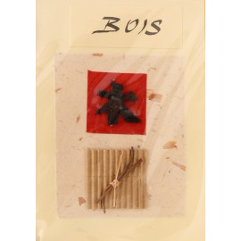 Carte postale bois