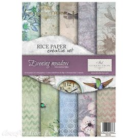 Kit créatif en papier de riz Evening Meadow