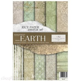 Kit créatif en papier de riz 4 Elements - Earth