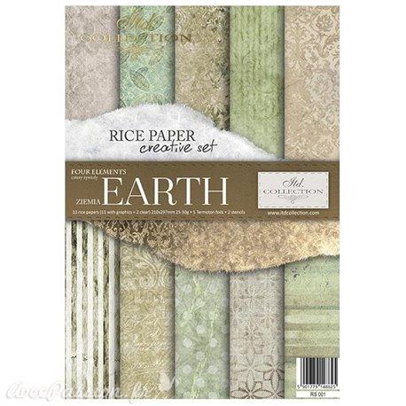 Kit créatif en papier de riz 4 Elements - Earth