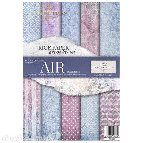 Kit créatif en papier de riz 4 éléments - Air