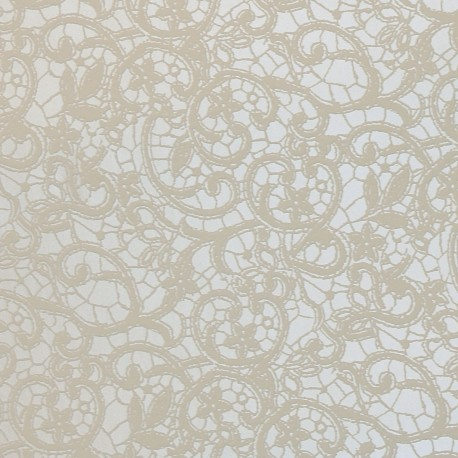 Papier simili cuir calabria blanc