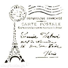 Pochoir plastique 16x16cm tour Eiffel