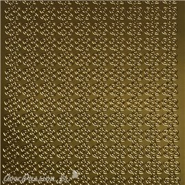 Sticker peel off adhésif bordures doré