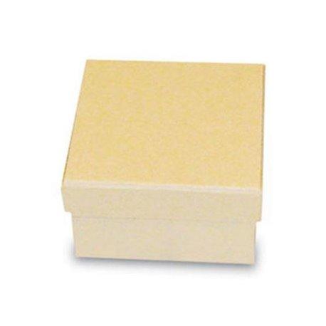 Objet brut boite carrée 8.5x8.5cm carton marron