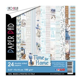 Papier scrapbooking 15x15 assortiment time for home 24f