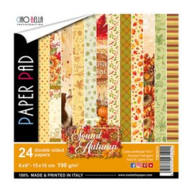 Papier scrapbooking 15x15 assortiment the sound of autumn 24f