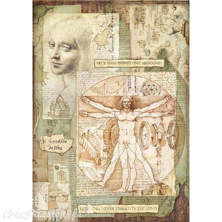 Papier de riz Stamperia 42x30cm Leonard de Vinci I