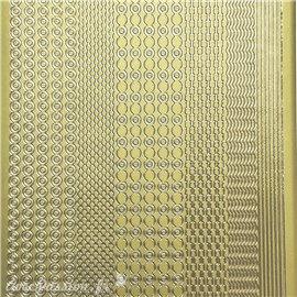 Sticker peel off adhésif lignes doré